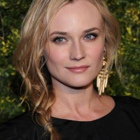 Diane Kruger Textured Side Braid for Long Hair