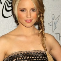 Dianna Agron Fishbone Braid - Popular Long Braided Hairstyles 2013