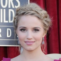 Dianna Agron Fishbone Braided Updo - Beautiful!