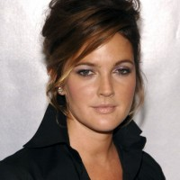Drew Barrymore French Twist Updo Haircut
