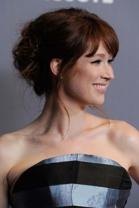 2013 Cute Updo Hairstyles For Women Cute Updo Hairstyle With Bangs
