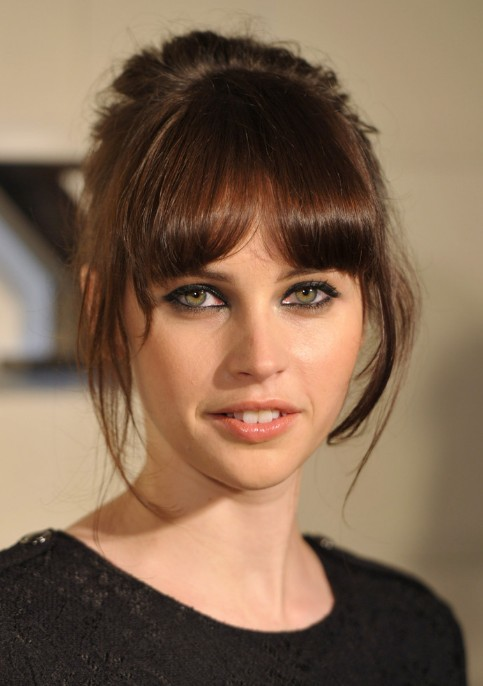 Felicity Jones Cute Hairstyles 2013