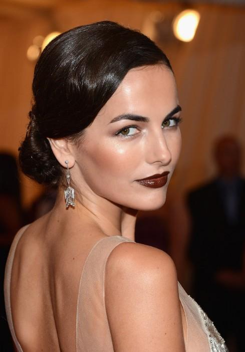 Formal Sleek Low Loose Bun Updo Hairstyle From Camilla