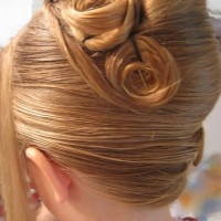 French Twist for Wedding:Rose Twist