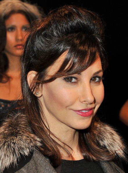 Gina Gershon Half Up Half Down Hairstyles for Winter
