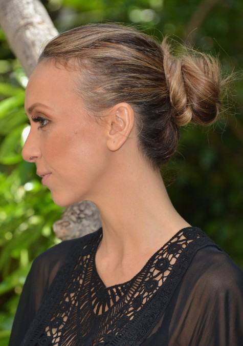 Giuliana Rancic Casual Loose Bun Updo Hairstyle