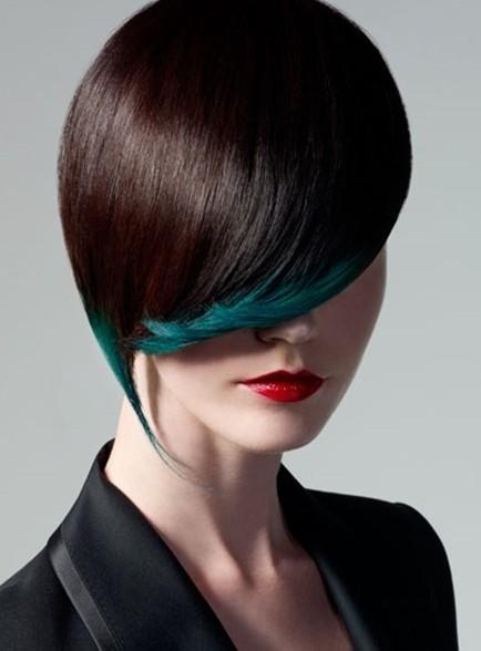 Gothic Black hairstyle 2013 رنگ موی سال 2013