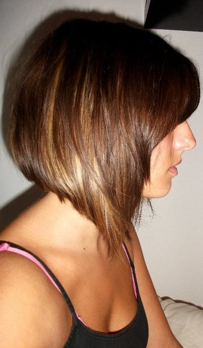 Side View of Graduated Bob Hairstyle - Short Haircut for Women