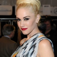 Gwen Stefani Formal Textured Bun Updo