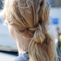 Back view of Double Hair Knot Hairstyle