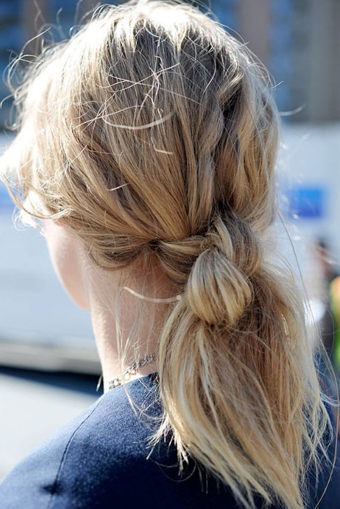 Back view of Double Hair Knot – Hair Knot Ponytail