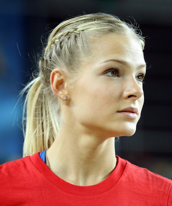 Hairstyle With Two French Braids A Ponytail Braid Hairstyle For