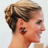 Heidi Klum Latest Hairstyles: Generous Cool Twisted Updo