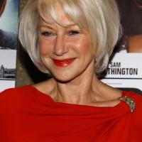 Helen Mirren short bob hairstyle for women over 60s