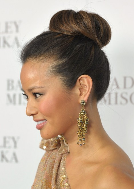 Amazing Sleek High Bun Updo Hairstyles For 2013 Hairstyles Weekly Short Hairstyles For Black Women Fulllsitofus