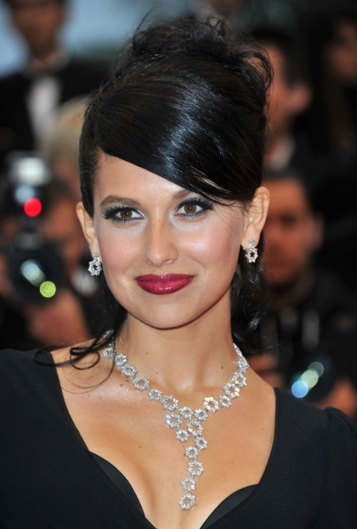 ... Thomas Elegant Formal Black Updo With Side Bangs - Hairstyles Weekly