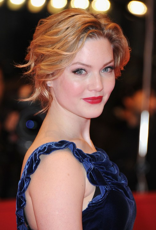 Awesome Holliday Grainger Wavy Curly Updo Hairstyles Weekly Hairstyle Inspiration Daily Dogsangcom