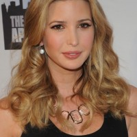 Ivanka Trump Layered Long Wavy Hairstyle