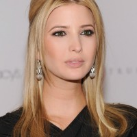 Ivanka Trump Center Parted Long Sleek Blonde Hairstyle