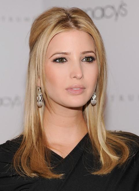 Ivanka Trump Center Parted Long Sleek Blonde Hairstyle Hairstyles Weekly