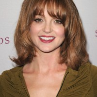 Jayma Mays Medium Wavy Curly Hairstyle with Layers