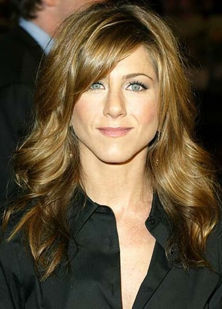 Jennifer Aniston Long Curly Hairstyle with Bangs