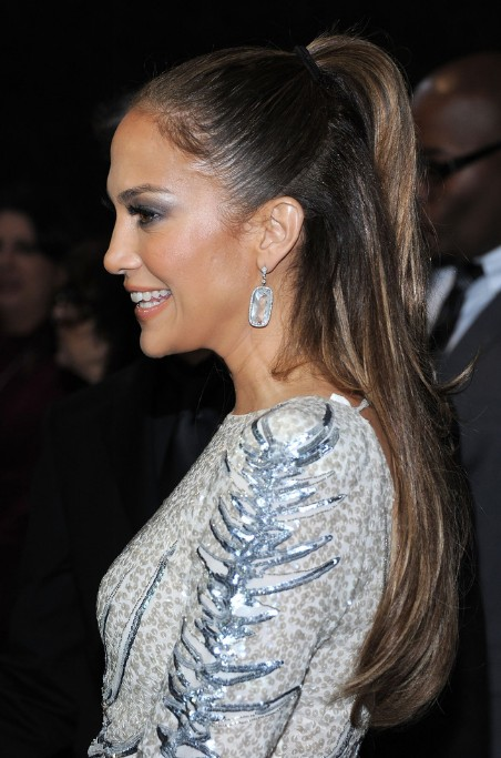 Jennifer Lopez Half Up Half Down Ponytail Hairstyle 2013
