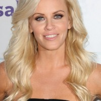 Jenny McCarthy Long Wavy Blonde Hairstyle with Bangs