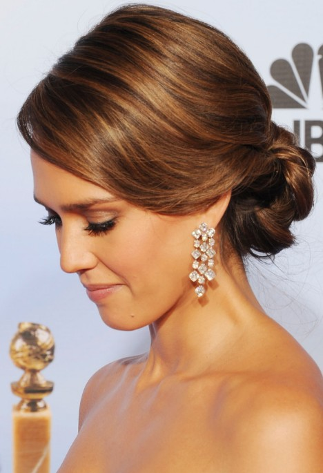 Romantic Loose Updo For Wedding From Jessica Alba Hairstyles Weekly