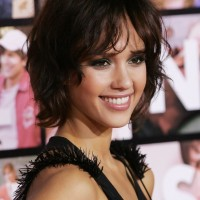 Jessica Alba Short wavy curly bob hairstyle