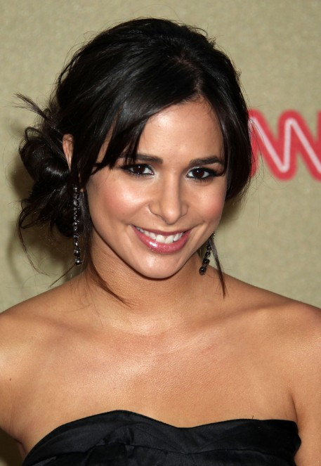 Josie Loren Cute Layered Black Updo Hairstyle for Prom