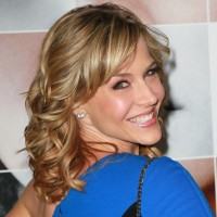 Julie Benz Medium Funky Blonde Wavy Curly Hairstyle