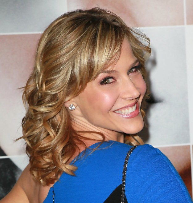 Julie Benz Medium Funky Blonde Wavy Curly Hairstyle Hairstyles Weekly