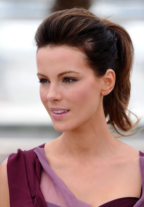 Kate Beckinsale Simple Easy Ponytail Hairstyle Hairstyles Weekly