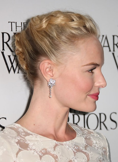 Kate Bosworth Braided French Twist Updo Hairstyle
