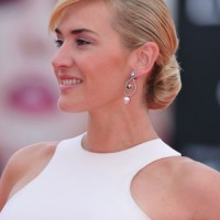 Kate Winslet Romantic Low Bun Wedding Updo