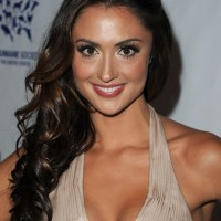 Katie Cleary Curly Half Up Half Down Wedding Hairstyle