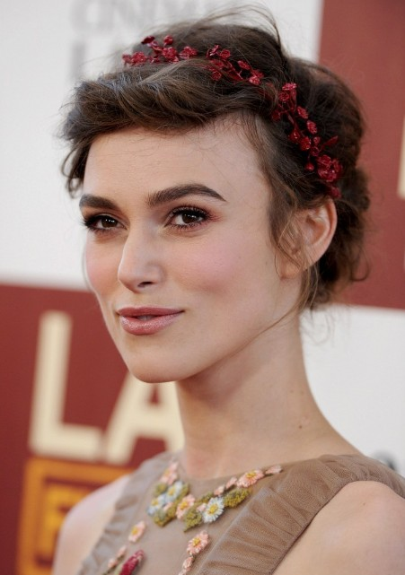 Prime Keira Knightley Romantic Braided Updo Hairstyles Weekly Short Hairstyles For Black Women Fulllsitofus