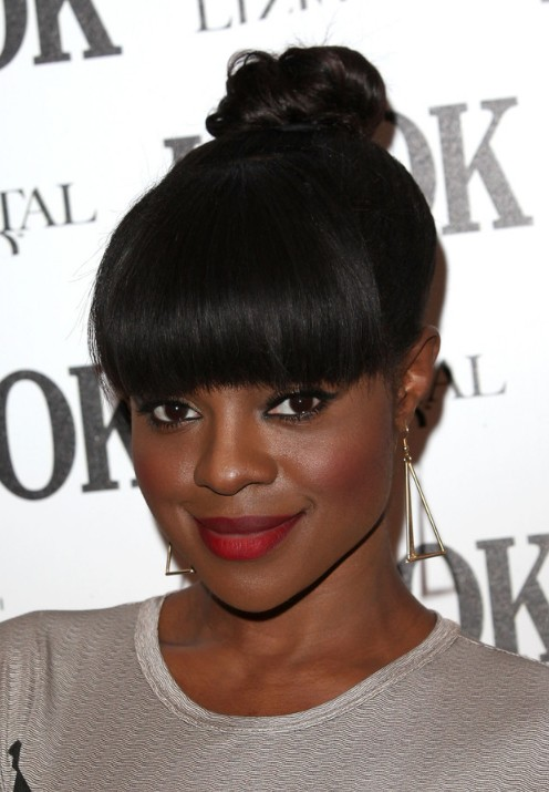 Brilliant Keisha Buchanan Knot Hairstyle With Bangs For African American Hairstyles For Men Maxibearus