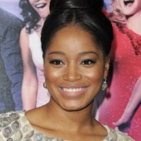 Keke Palmer Classic Black High Bun Updo Hairstyle for Black Women