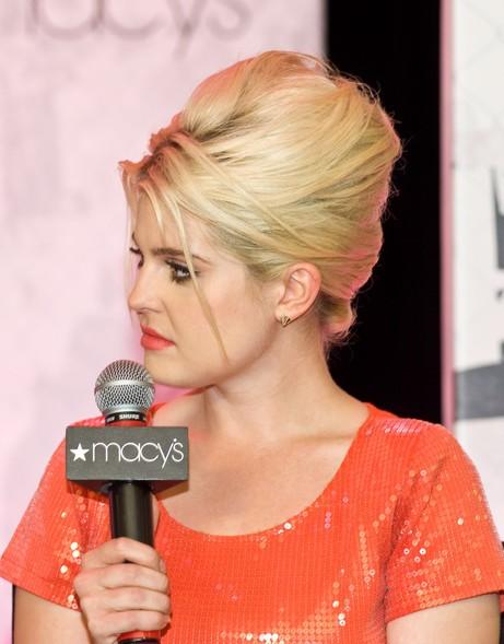 Kelly Osbourne Stylish Blonde Messy Updo Hairstyle