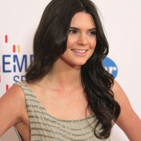 Kendall Jenner Long Black Curly Hairstyles 2013 2014