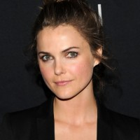 Keri Russell Messy Bun Updo Hairstyle 2013