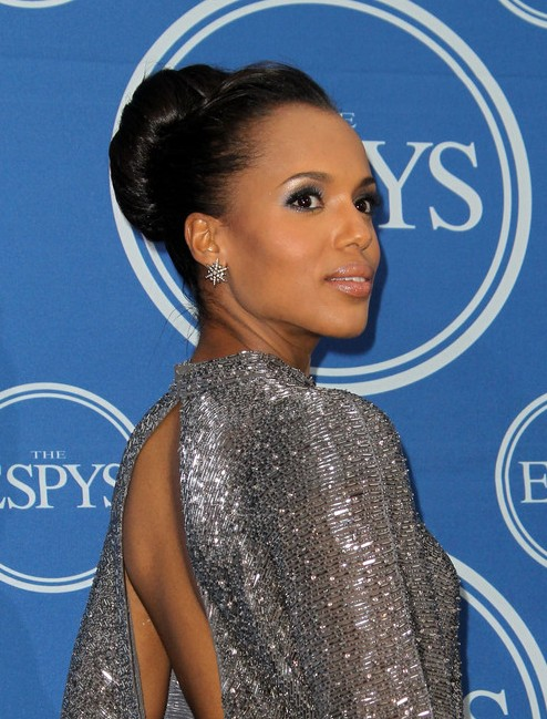 Fantastic Kerry Washington Classic High Bun Updo For Prom Hairstyles Weekly Short Hairstyles For Black Women Fulllsitofus