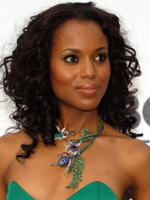 Kerry Washington Black Curly Hairstyle