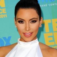 Kim Kardashian Black Formal Bun Updo Hairstyle