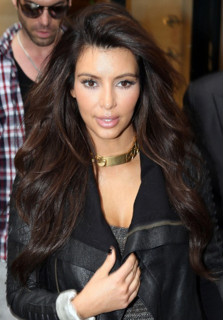 Kim Kardashian Long Hairstyle with Loose Weaves