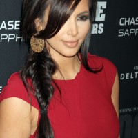 Kim Kardashian Sexy Side Braid - 2013 Popular Braided Hairstyles