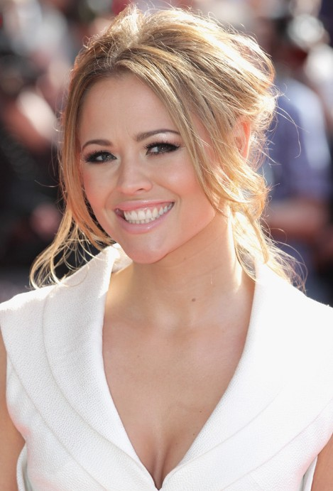 Beautiful Loose Bun with Long Bangs from Kimberley Walsh