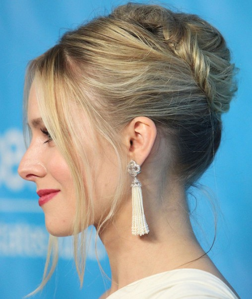 Side view of Bobby Pinned Updo